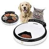 TOPHGDIY Automatisierte Katzen Futter-Spender Nassfutter Premium, Katzen-Futter-Automat für kleine bis mittele Hunde und Haustier Automatic Pet Feeder, 5 Tage /...