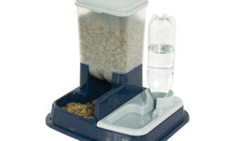 Katzenfutterstation: Karlie Futter- und Wasserspender für Katzen