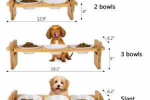 Flexibel eingerichteter Futterplatz für Hunde und Katzen